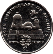 1 dollar Elizabeth II (Peanuts) – revers