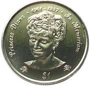 1 Dollar - Elizabeth II (Diana - Princesse de Galles) – revers