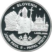 ½ Dollar - Elizabeth II Pope John Paul II in Slovenia – revers