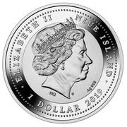 1 Dollar - Elizabeth II (150 years of the Suez Canal) – avers