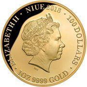 100 Dollars (Queen Elizabeth II Blue Sapphire Jubilee - Coronation 65th Anniversary) -  avers