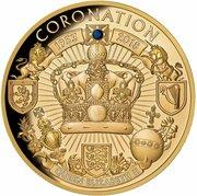 100 Dollars (Queen Elizabeth II Blue Sapphire Jubilee - Coronation 65th Anniversary) -  revers