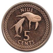 5 cents - Elizabeth II (3° effigie) – revers