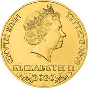 8000 dollars - Elizabeth II (Lion tchèque) -  avers