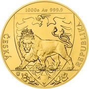 8000 dollars - Elizabeth II (Lion tchèque) -  revers