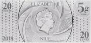 20 Cents - Elizabeth II (Year of the Dog) – avers