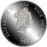 50 Cents - Elizabeth II (Hunting) – avers