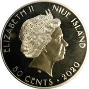 50 Cents - Elizabeth II (75 ans de paix et de liberté) – avers