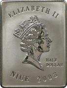 ½ Dollar - Elizabeth II (John Paul II) – avers