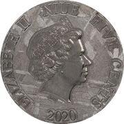 5 Cents - Elizabeth II (Tyrannosaurus) – avers