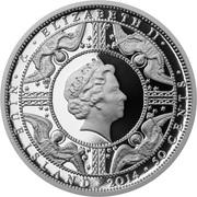 50 Cents - Elizabeth II (Charlemagne) – avers
