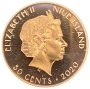 50 Cents - Elizabeth II (75 Years Peace and Liberty) – avers