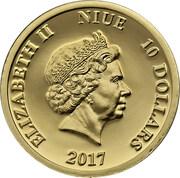 10 Dollars  - Elizabeth II (Lady's-slipper) -  avers