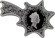 50 Cents - Elizabeth II (Christmas Star) – avers