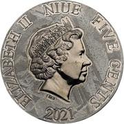 5 Cents - Elizabeth II (Ammonoidea) – avers