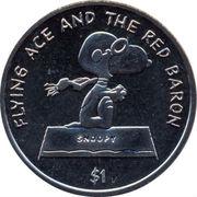 1 Dollar - Elizabeth II (Snoopy dog) – revers