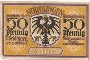 50 Pfennig (Nördlingen) – avers