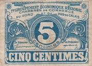 5 centimes - Chambres de Commerce du Nord [59] et du Pas-de-Calais [62] – avers