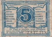 5 centimes - Chambres de Commerce du Nord [59] et du Pas-de-Calais [62] – revers