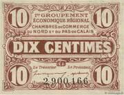10 centimes - Chambres de Commerce du Nord [59] et du Pas-de-Calais [62] – avers