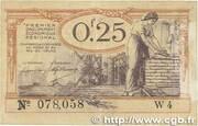 25 centimes - Chambres de Commerce du Nord [59] et du Pas-de-Calais [62] – avers
