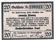 20 Pfennig (Norder- und Süder Dithmarschen) – avers