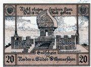20 Pfennig (Norder- und Süder Dithmarschen) – revers