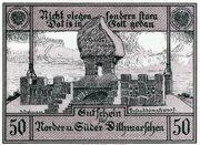 50 Pfennig (Norder- und Süder-Dithmarschen) – revers