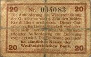 20 Pfennig  (Norder- u. Süder-Dithmarschen) – revers