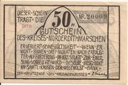 50 Pfennig (Norder-Dithmarschen) – avers