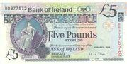 5 Pounds Bank of Ireland – avers