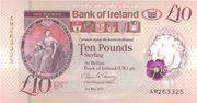 10 Pounds Bank of Ireland – avers