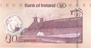 10 Pounds Bank of Ireland – revers