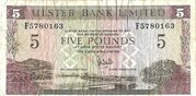 5 pound (Bank of Ulster) – avers