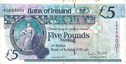 5 Pounds (Bank of Ireland) – avers