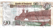 10 Pounds (Bank of Ireland) – revers