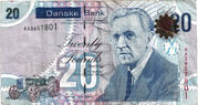 20 Pounds (Danske Bank) – avers