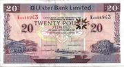 20 Pounds (Ulster Bank) – avers