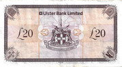 20 Pounds (Ulster Bank) – revers