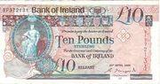 £10 Bank of Ireland – avers