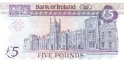 5 Pounds Bank of Ireland – revers
