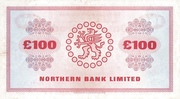 100 Pounds (Northern Bank) -  revers