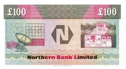 100 Pounds (Northern Bank) – revers