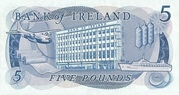 5 Pounds (Bank of Ireland) – revers