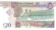 20 Pounds (Bank of Ireland) – revers
