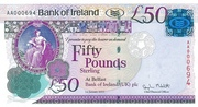 50 Pounds (Bank of Ireland) – avers