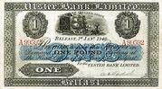 1 Pound (Ulster Bank) – avers