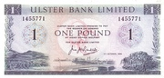 1 Pound (Ulster Bank) – avers