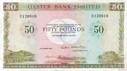 50 Pounds (Ulster Bank) – avers