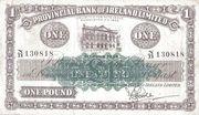 1 Pound (Provincial Bank of Ireland) – avers